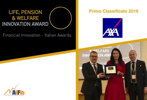 "Ad AXA Italia il Premio AIFIn ""Life, Pension & Welfare – Innovation Award"" 2019"