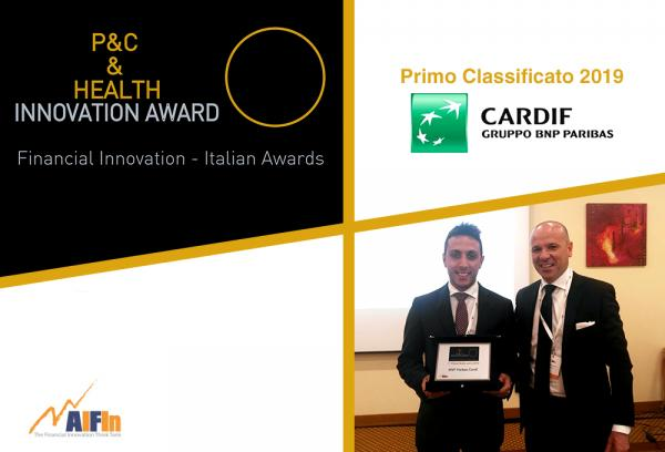 "A BNP Paribas Cardif il Premio AIFIn ""P&C & Health – Innovation Award"" 2019"