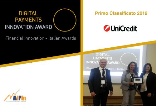 "A UniCredit il Premio AIFIn ""Digital Payments – Innovation Award"" 2019"