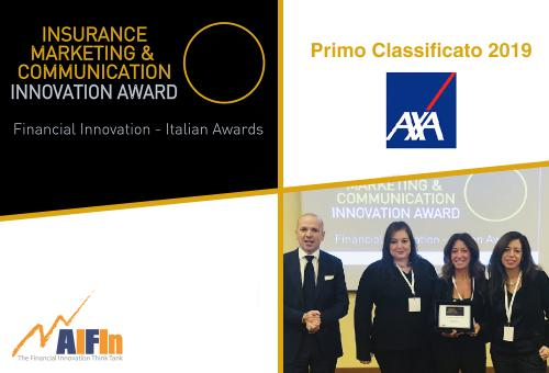 "Ad AXA Italia il premio AIFIn ""Insurance Marketing & Communication – Innovation Award"" 2019"