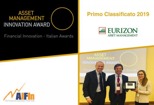 "A Eurizon Capital SGR il premio AIFIn ""Asset Management – Innovation Award"" 2019"