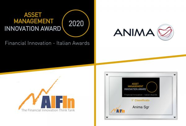 "Ad Anima Sgr il premio AIFIn ""Asset Management – Innovation Award"" 2020"